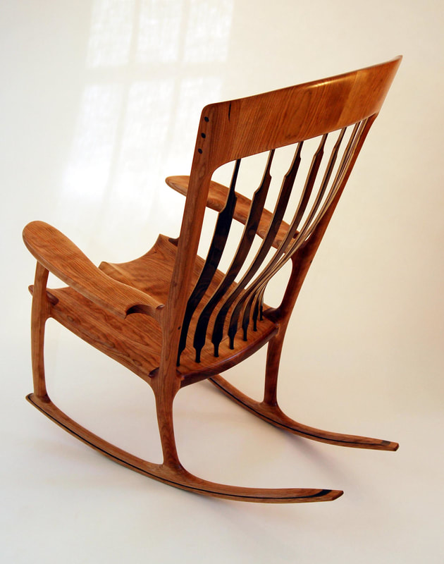 This Curly Maple Rocking Chair Resides In Balm Castle Scotland The Summer Abode Of Hrh Prince Charles
